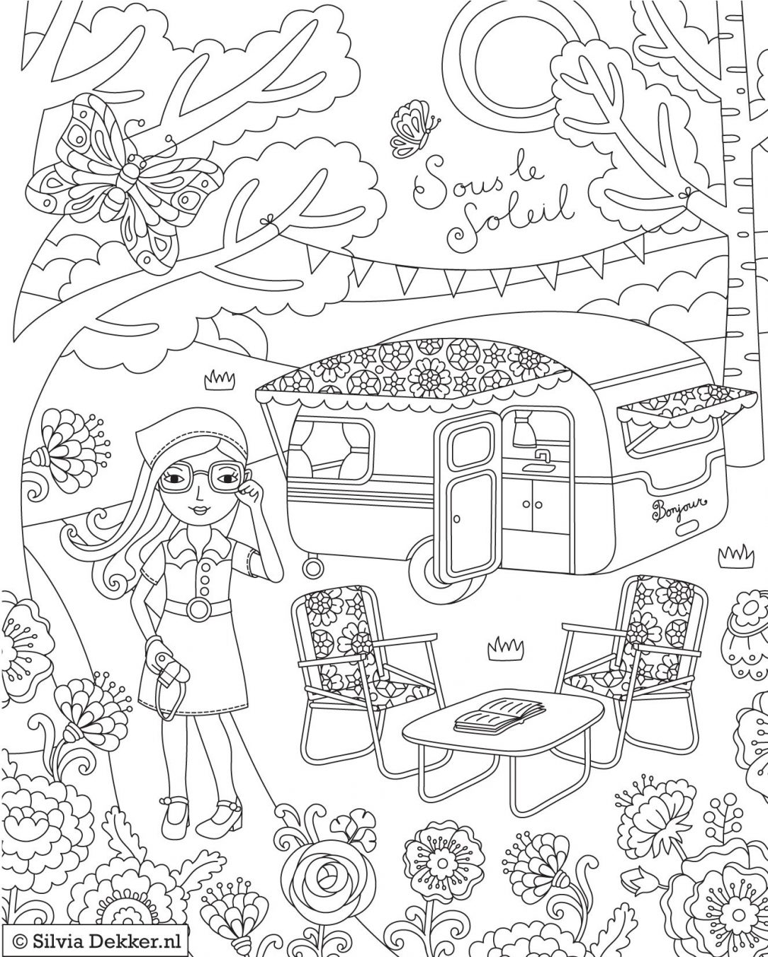 Camping Coloring Pages Coloring Rocks