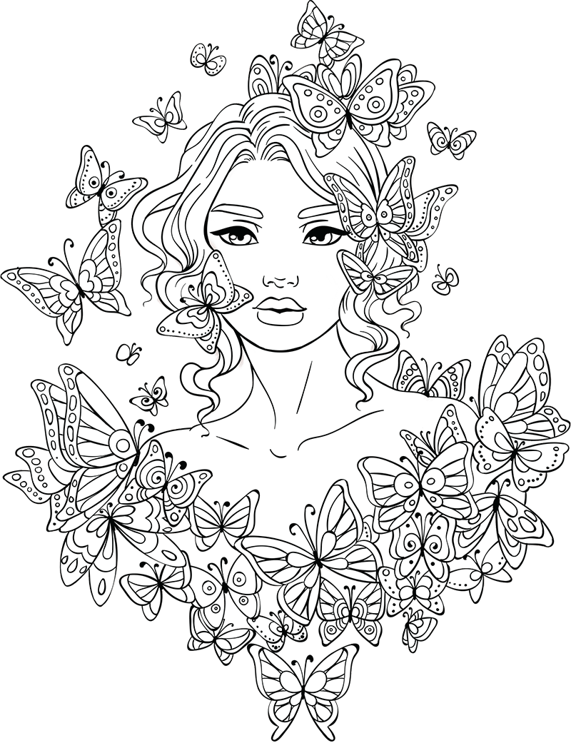 Coloring Pages For Teenage Girl | Haramiran | 1041x800