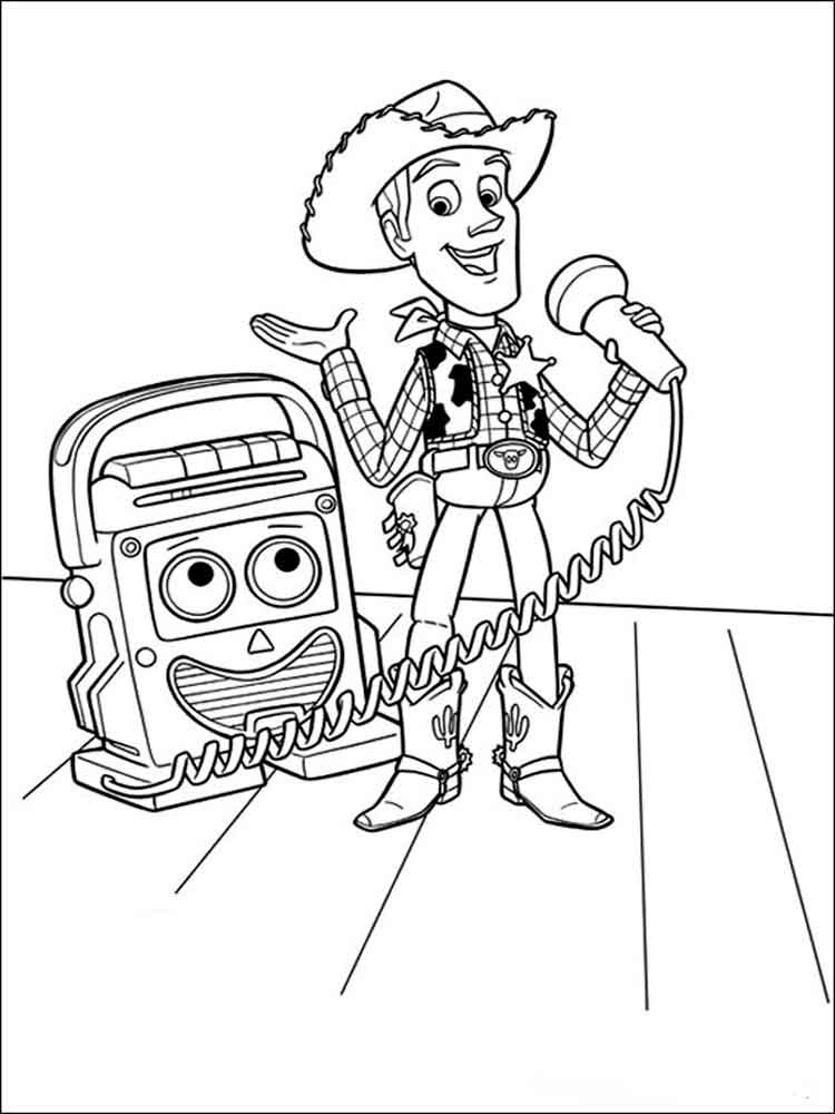 Woody Mr Mike Toy Story Coloring Pages