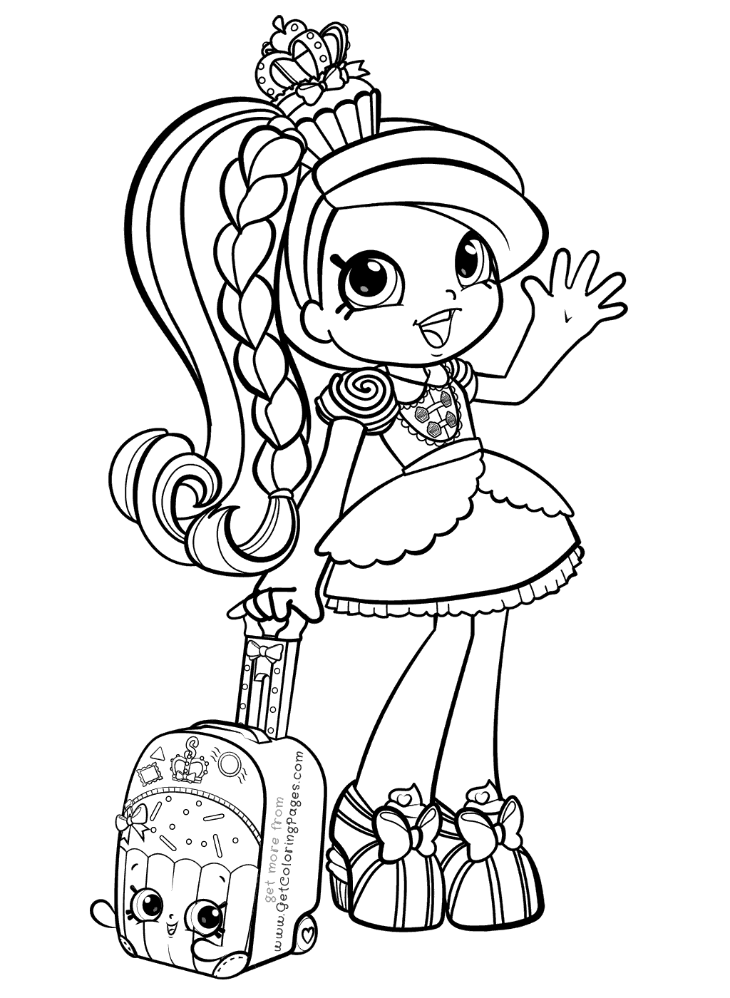 World Vacation Shoppies Coloring Pages