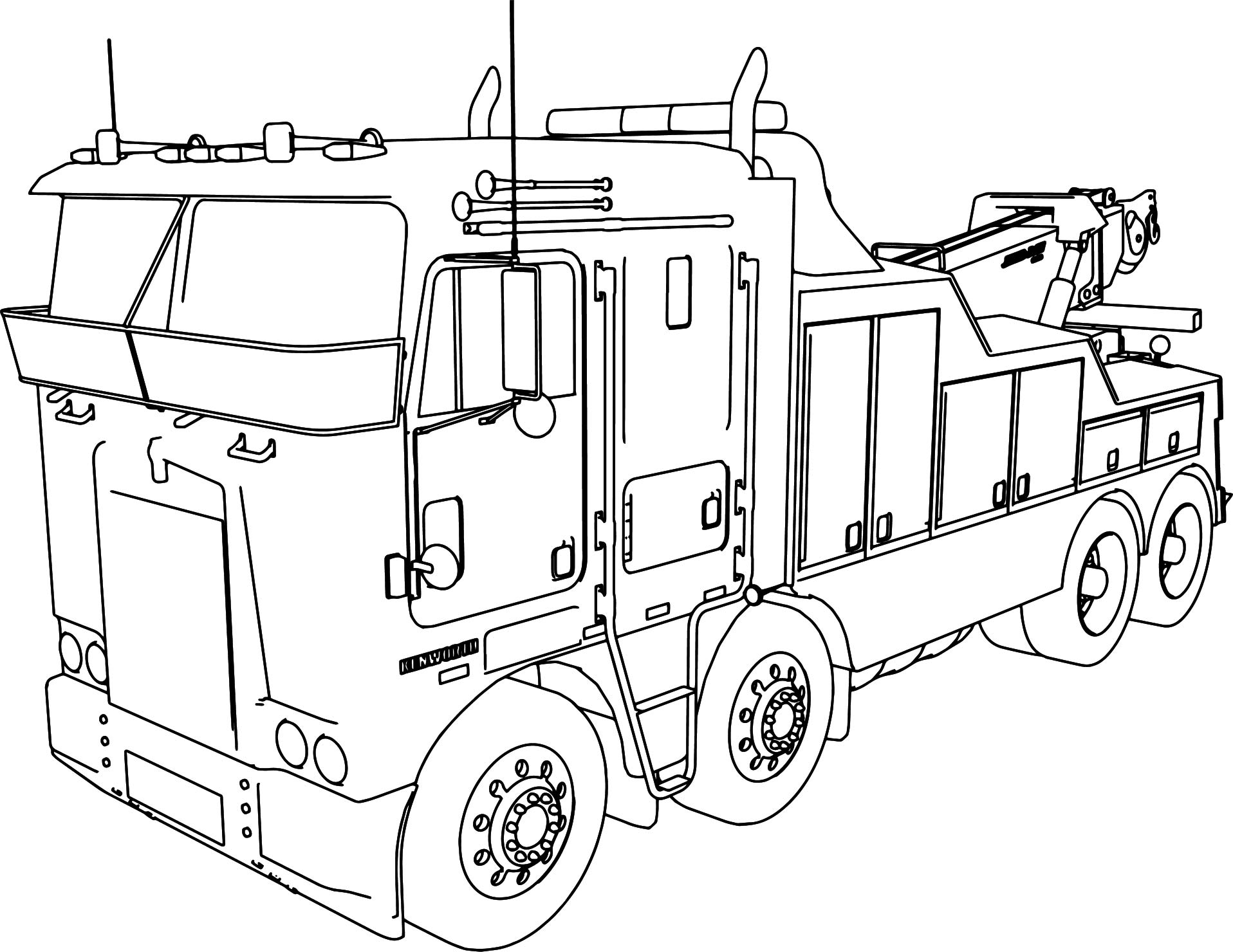 Wrecker Truck Coloring Pages