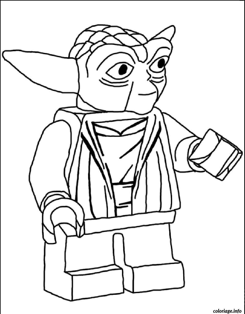 Yoda Star Wars Lego Coloring Pages