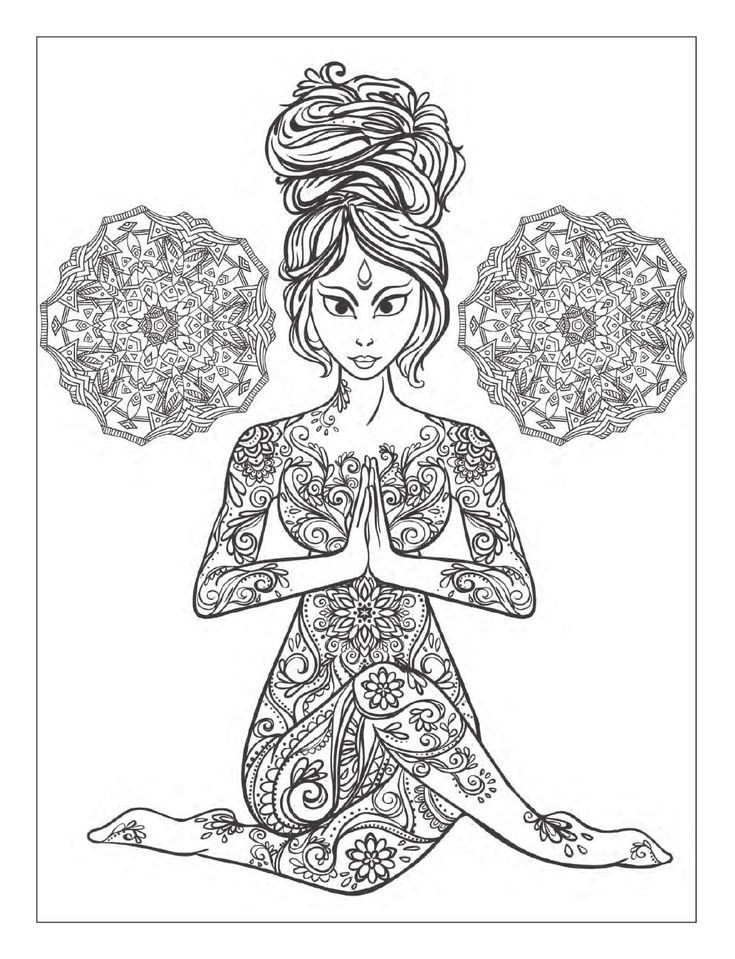 Yoga Lady Coloring Page