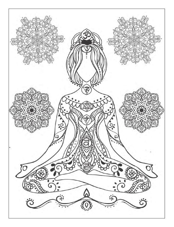 Yoga Mandala Coloring Page