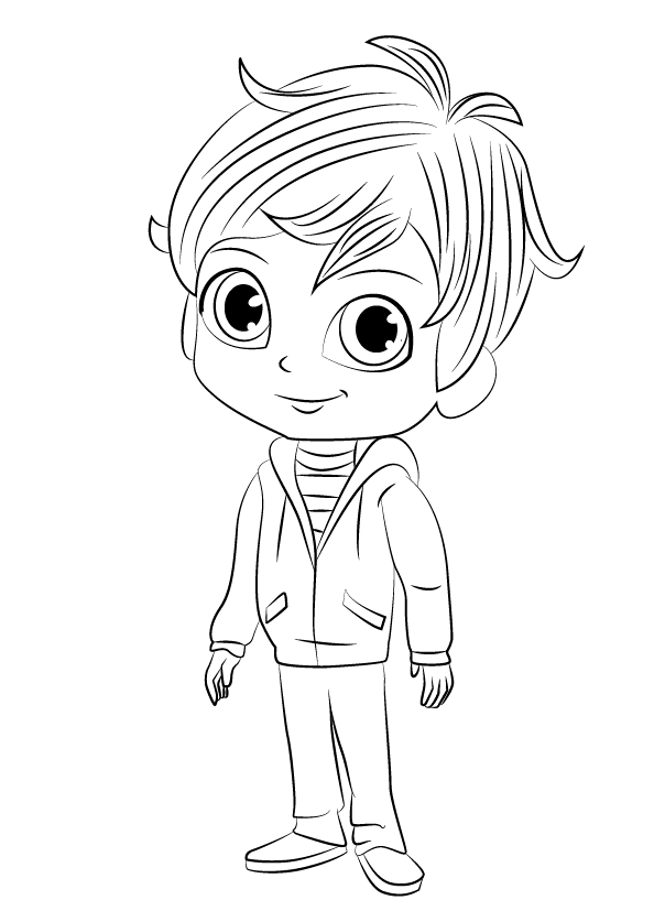 Zac Shimmer and Shine Coloring Pages