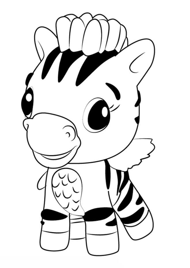 Zebra Hatchimals Coloring Pages