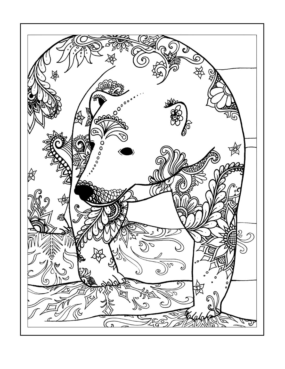 Zen Bear Coloring Pages