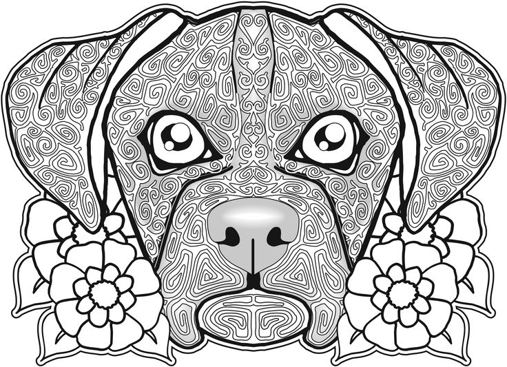 Dog Coloring Pages For Adults Coloring Pages Kids