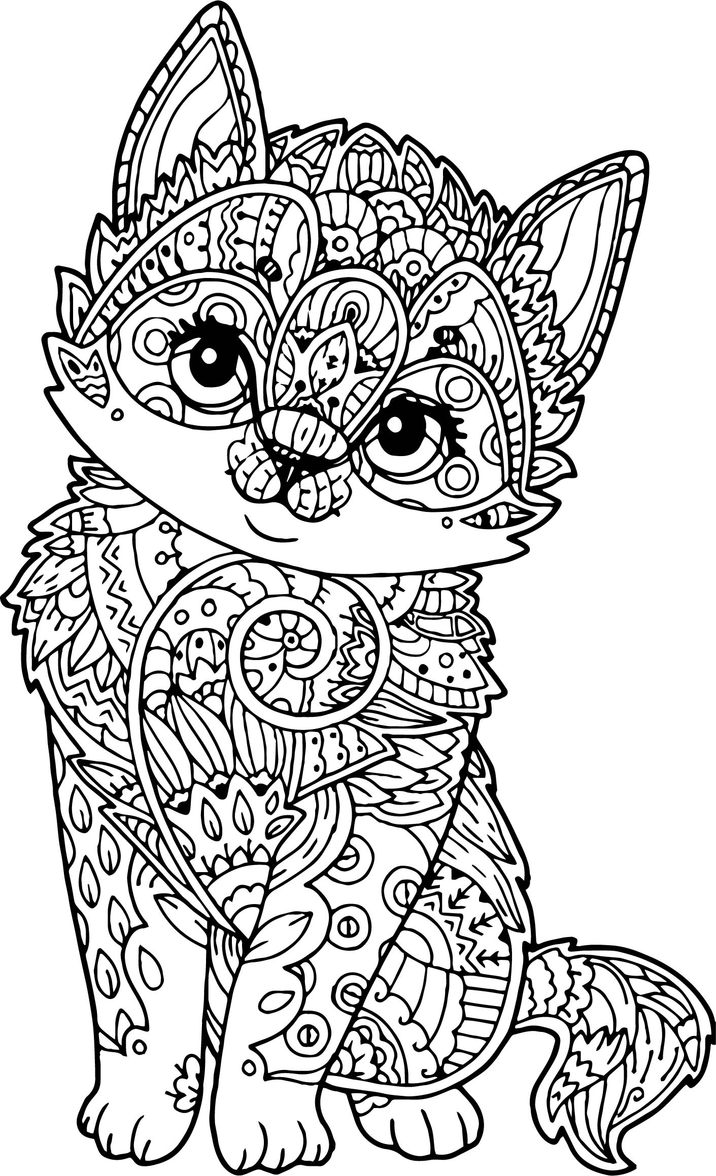 Cat Coloring Pages Coloring Rocks