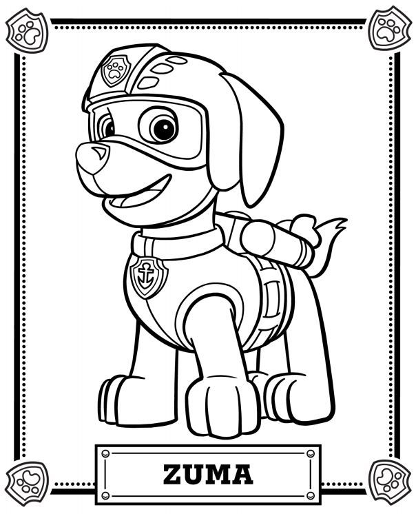 Paw Patrol Coloring Pages Coloring Rocks