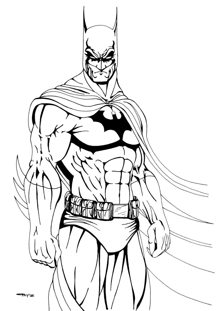 Batman Coloring Pages Coloring Rocks