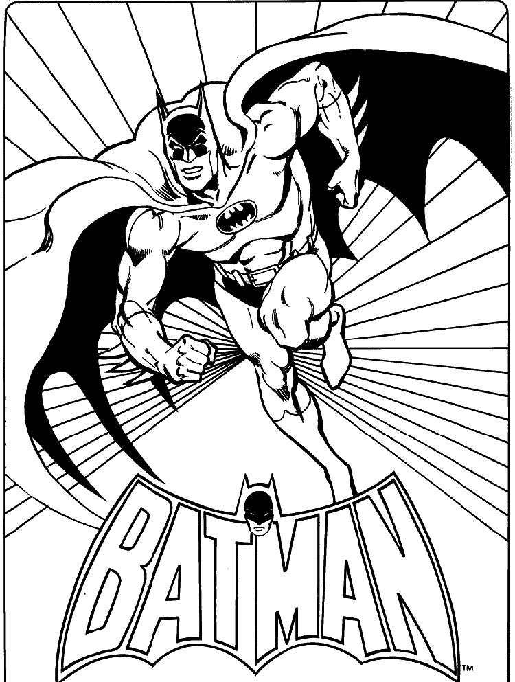 batman colouring pages