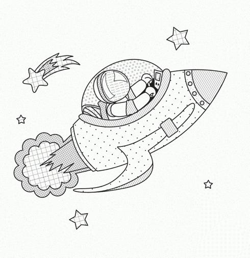 coloring pages - space coloring pages