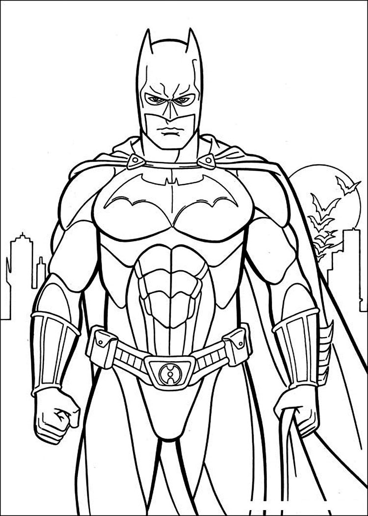 colouring pages batman