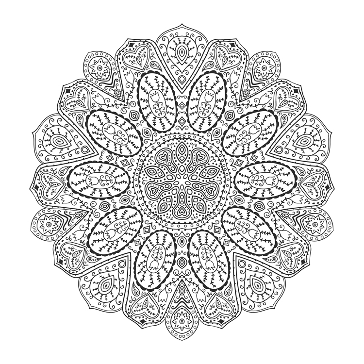 difficult color by number coloring pages PNG image with ... | 750x750