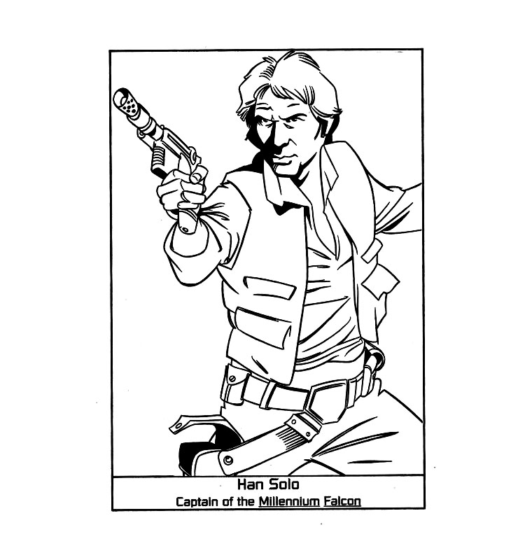 han solo star wars coloring page