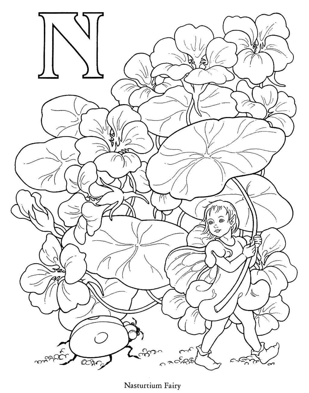 Alphabet Fairy Coloring Pages