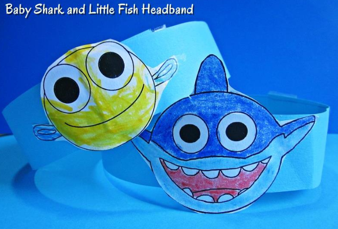 baby shark coloring crafts