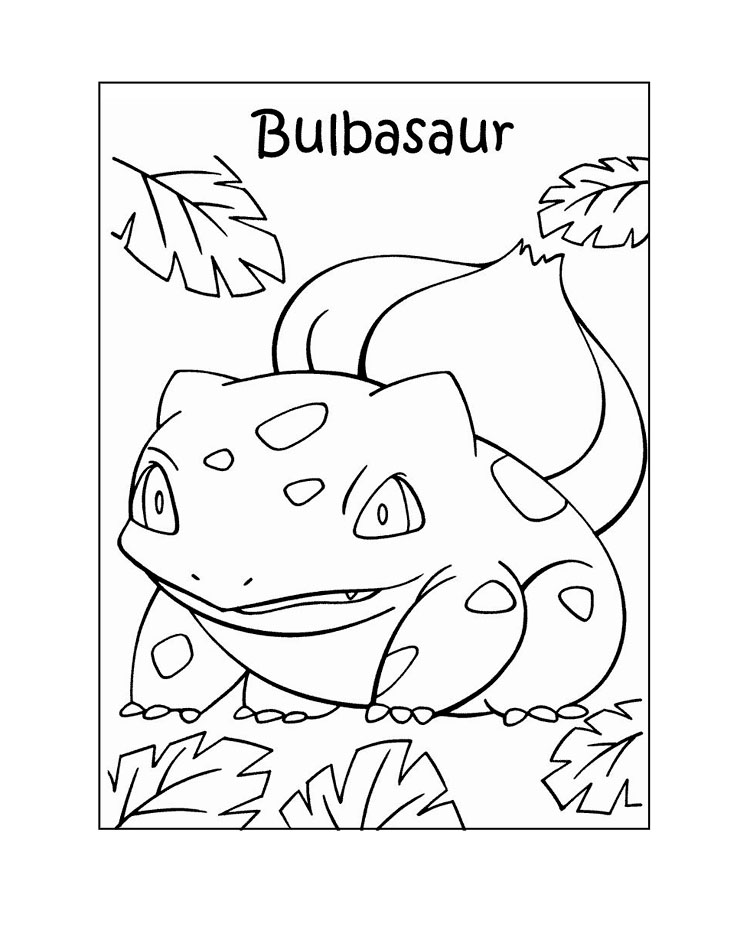 pokemon coloring bulbasaur