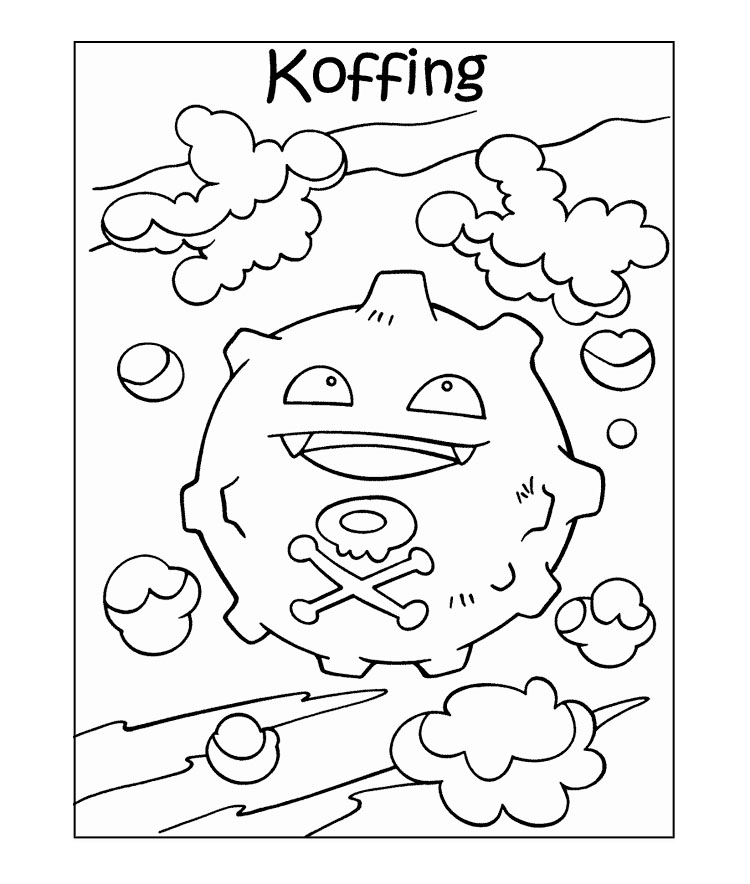 pokemon coloring pages koffing