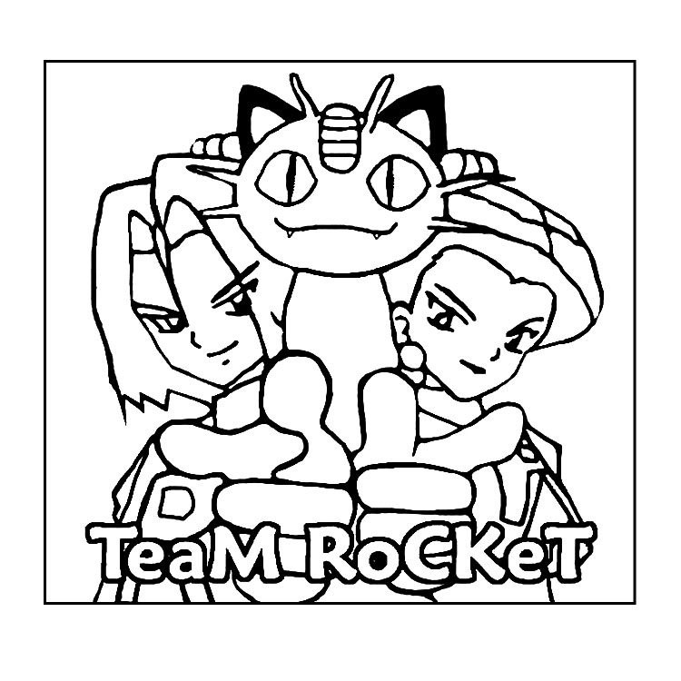 pokemon coloring ages teamrocket