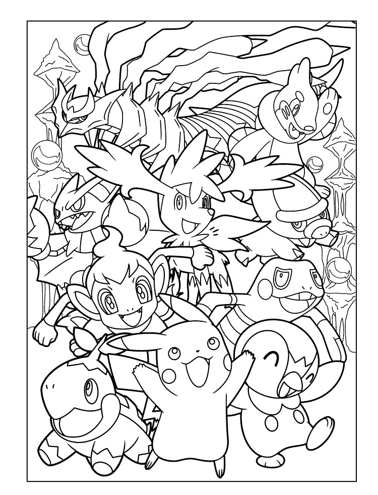 Coloring Pages For Kids Pokemon Talonflame Printable - Printable ... | 980x750