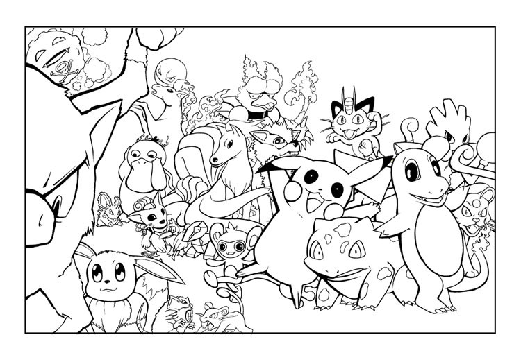 All Pokemon Characters Coloring Pages Coloring Pages