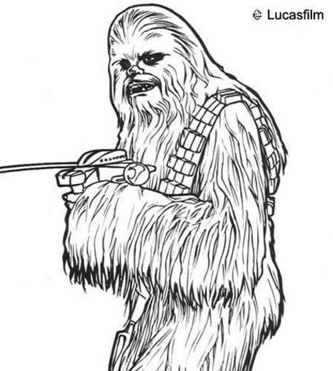 Star Wars Coloring Chewbaka Okids