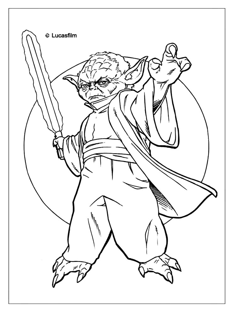 Star Wars Qui-Gon Jinn coloring page | Coloring pages | 1000x750
