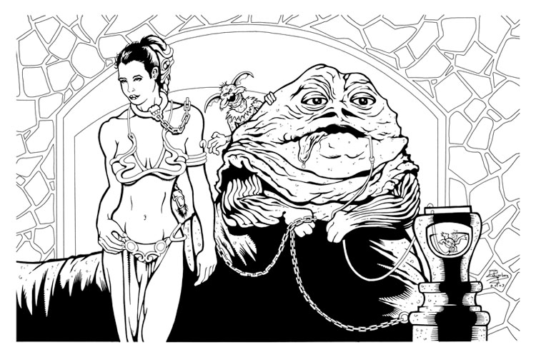star wars coloring pages princess leia