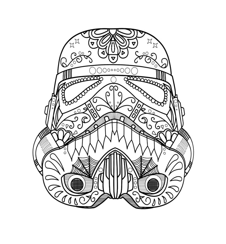 star wars coloring page stormtrooper candy