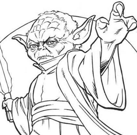 star wars colouring pages yoda - hellokids