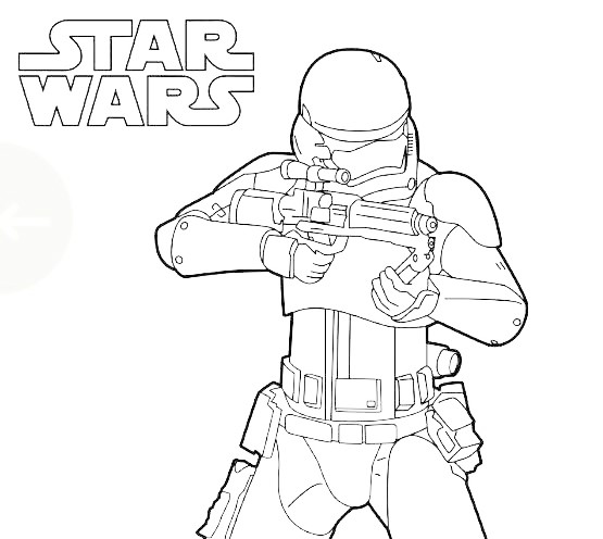 Star Wars Coloring Pages - Free Printable Star Wars Coloring Pages | 496x555