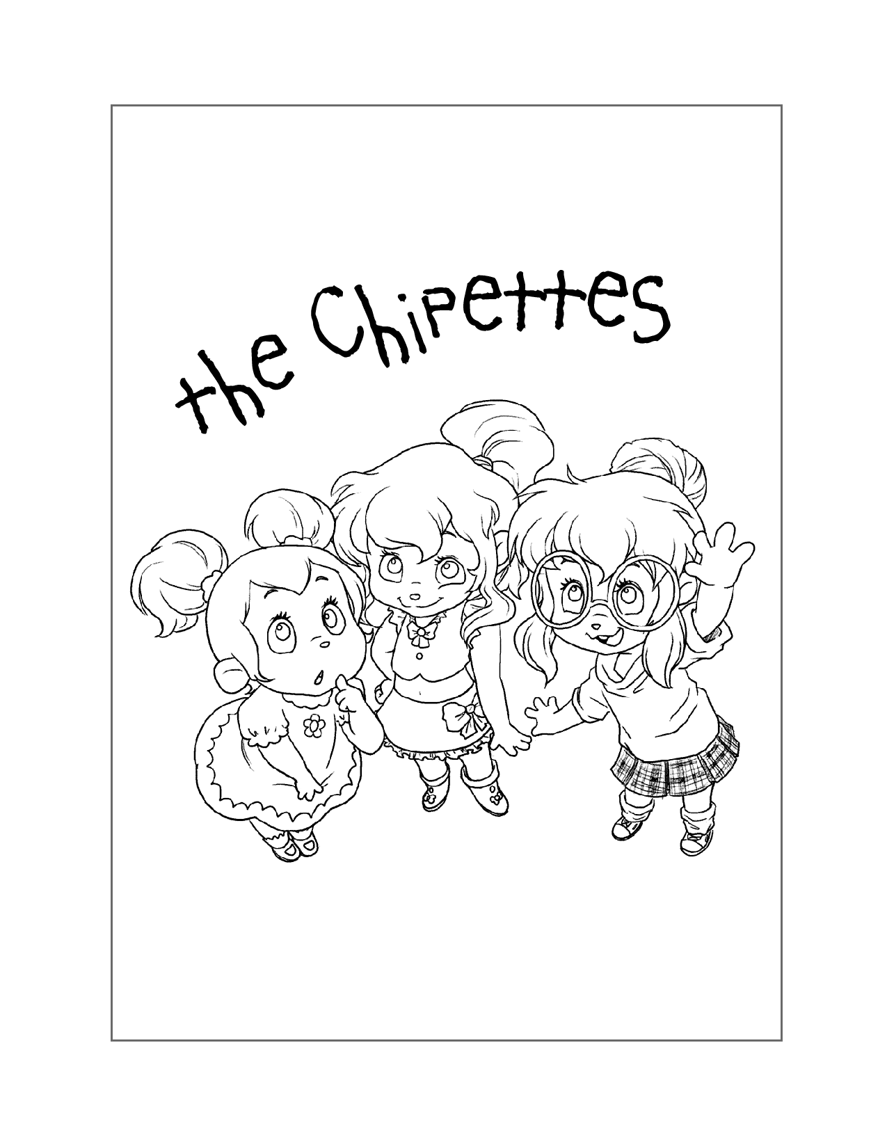 The Chipettes Coloring Page